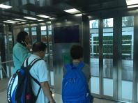 Inside the lift