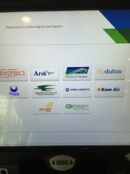 List of Airlines you can use self check-in