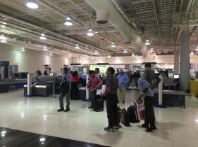 Security screening area