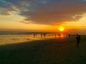 Sunset on Seminyak Beach