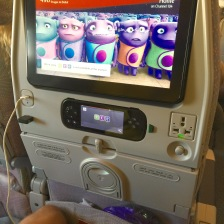 Detail of newest ICE TV on B777-300