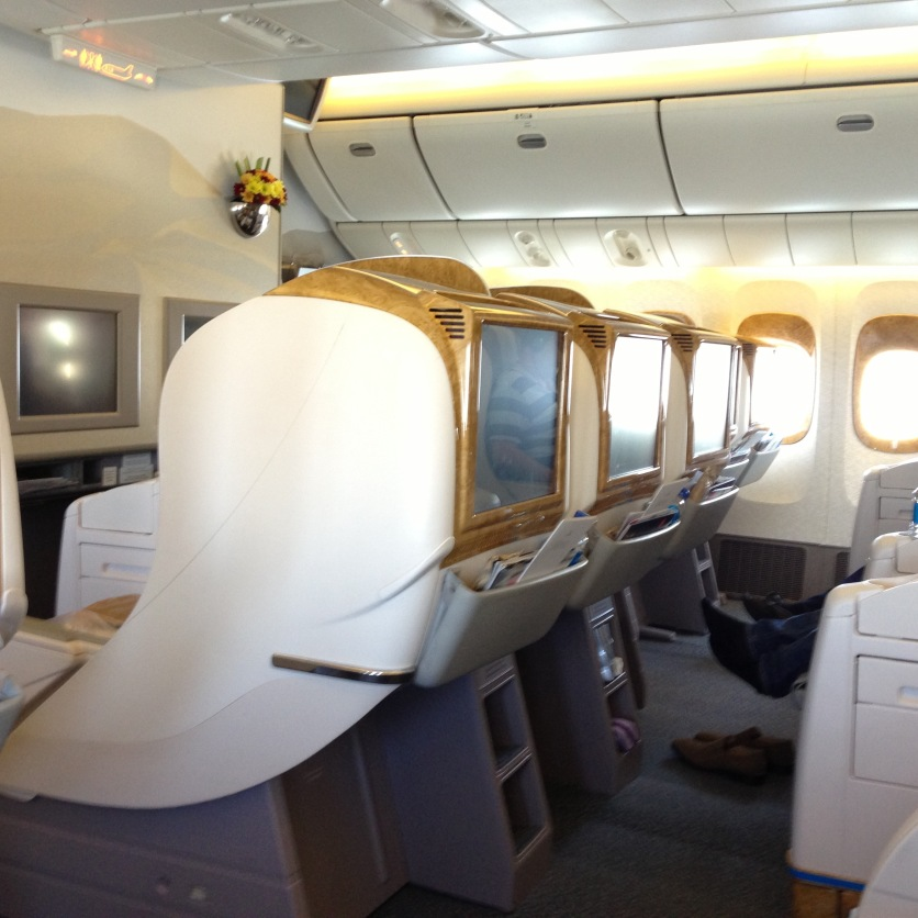 Seats in Emirates business class