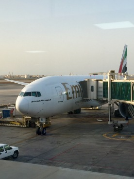 Ready to go … at DXB airport