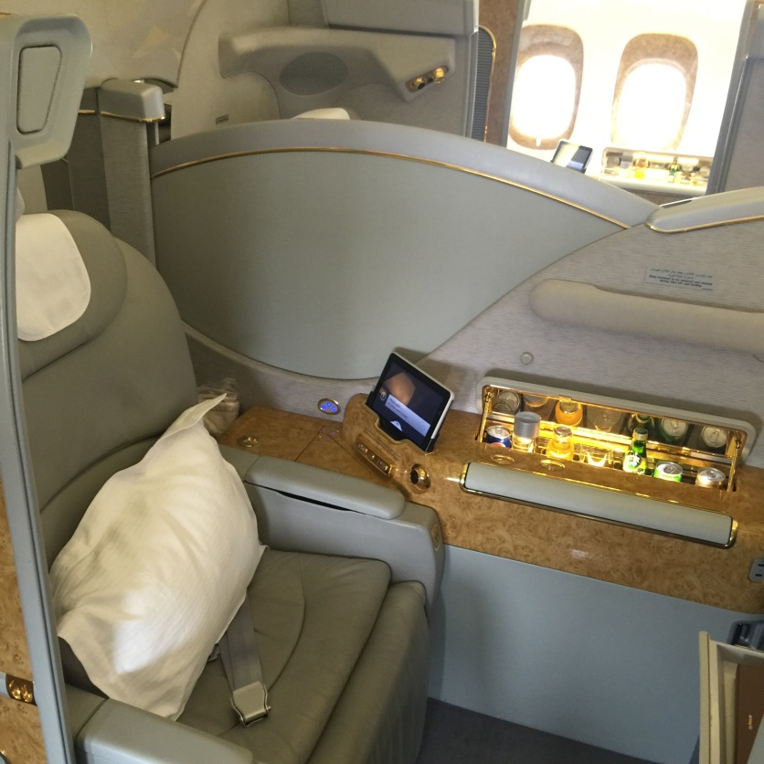 Huge seat in Emirates First class