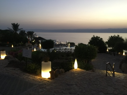 Way to the Dead Sea in the Evening