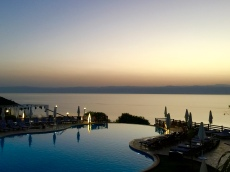 Sunset over Infinity Adult Pool