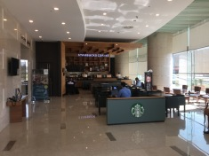 Starbucks coffee shop inside the lobby