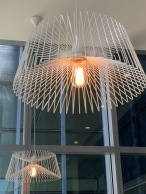 Minimalistic light fitting to suit the interior