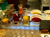 Selection of fresh juices