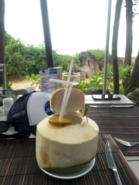 Best drink ever … fresh coconut water