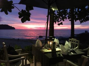 Romantic setting for dinner
