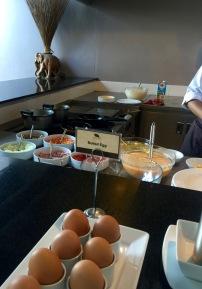 Omelet station