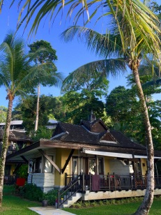 One of the beach front bungalows