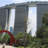 View at Marina Bay Hotel from the Gardens