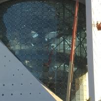 Detail of the walk inside