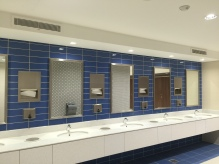 Inside the washrooms