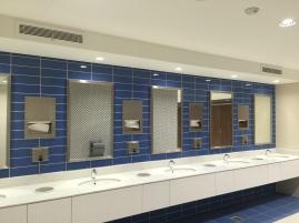 Inside the washrooms