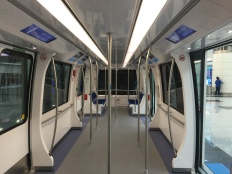 Inside the passenger train
