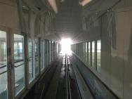 Train leaving the terminal