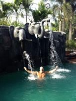 Refreshing dip in Royal Crown Hotel pool