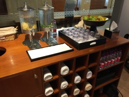 Water and fruit in the gym