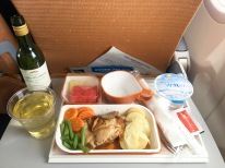 Meal on flight to SIN
