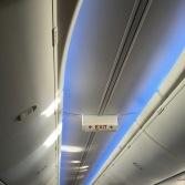 Detail of ceiling LED lighting