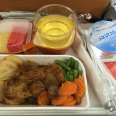 Very good meal on a flight to HKT
