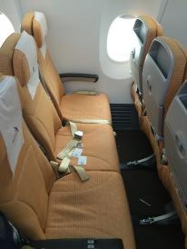 Standard seat leg room