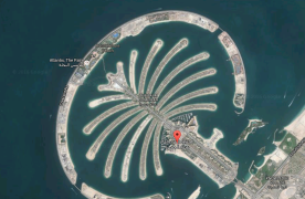 Satellite image of Palm Jumeirah