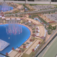 Model of the new Pointe Mall
