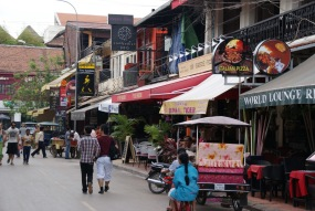 Town Centre full of bars and restaurants