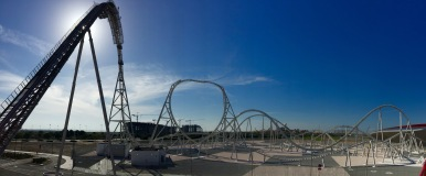 The ride viewed from outside deck