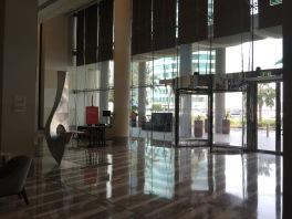 View at the main entrance