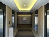 Lift lobby at the room floors