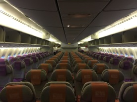 The economy cabin feels very full ..even when is empty