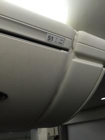 Row 51 overhead locker