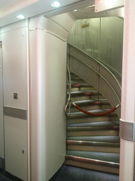 Back staircase up to the second level
