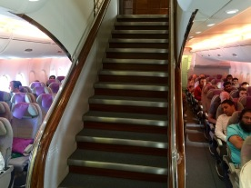 Front staircase on to business class floor