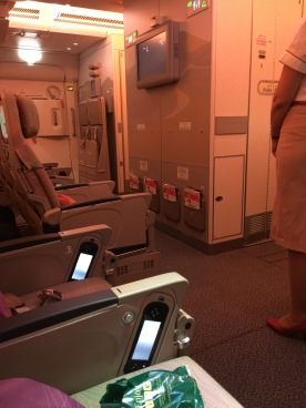 View from seat 68K