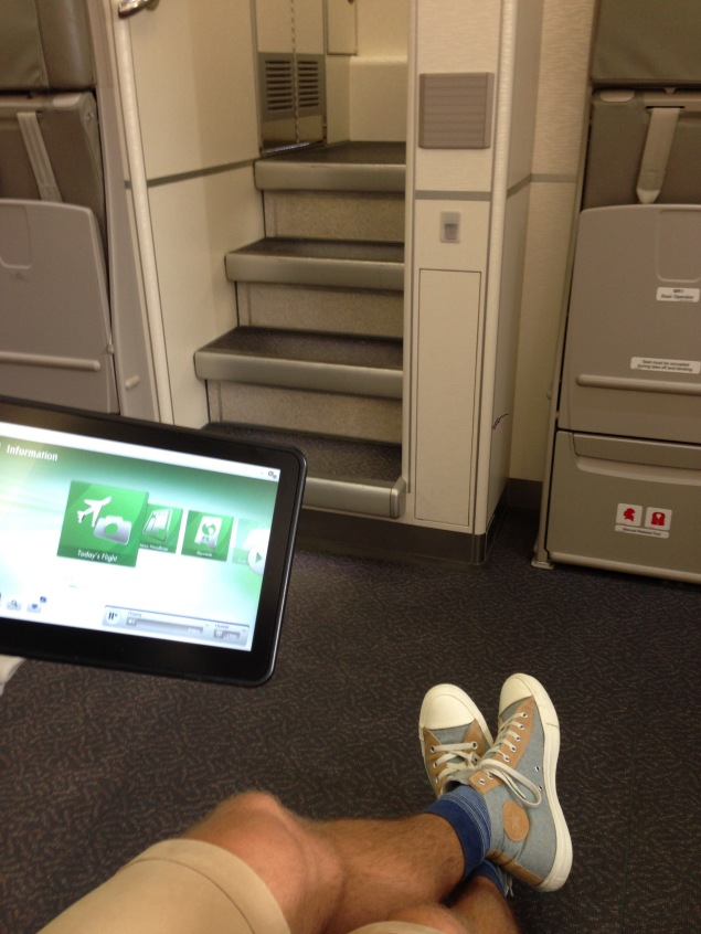 First row of economy cabin offers great space
