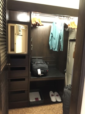 Walk-in closet with safe