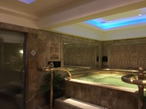 Jacuzzi inside the spa