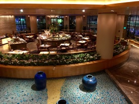 View at the entire buffet area