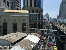 Walkway from BTS Skytrain