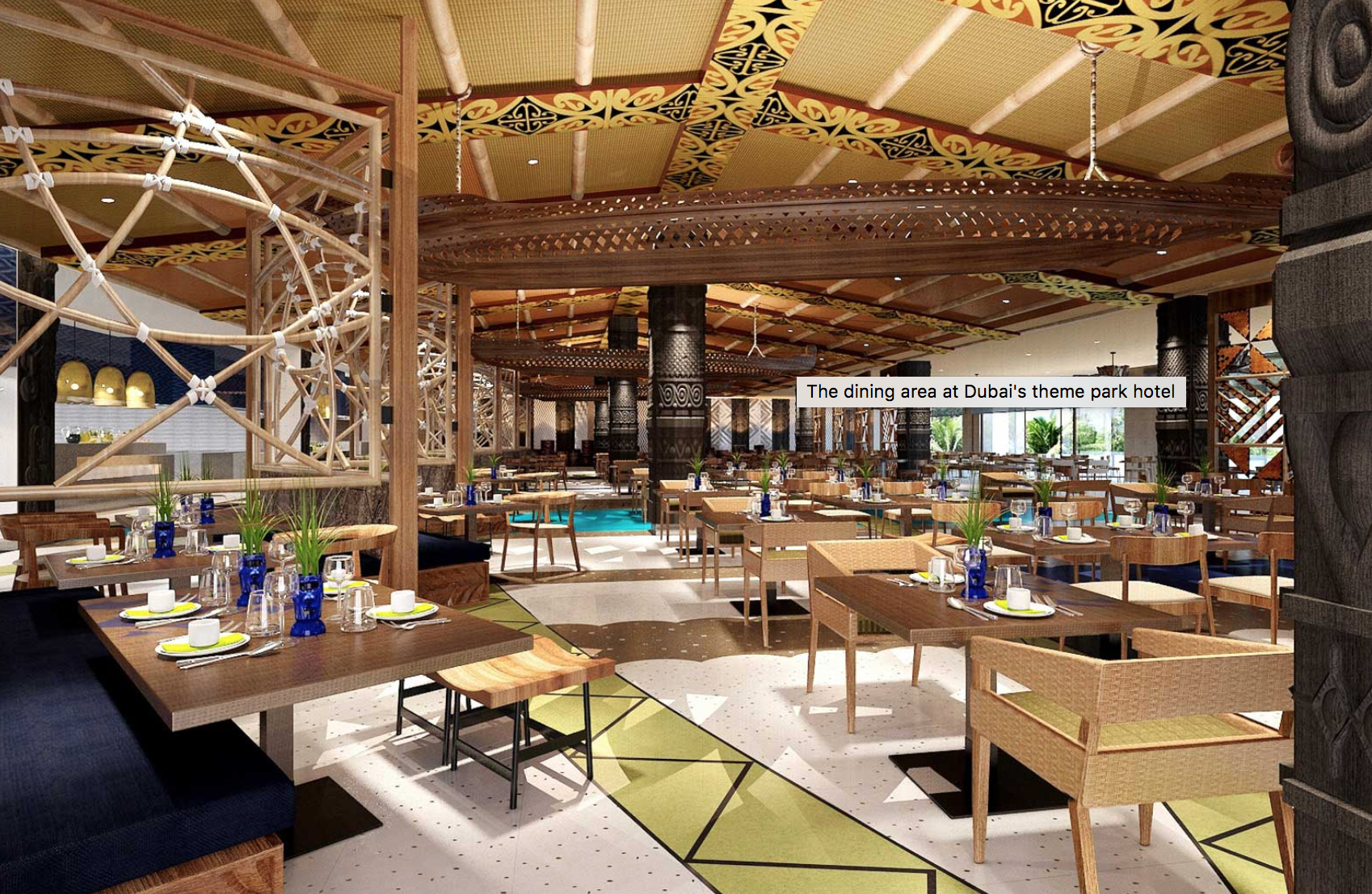 Dubai parks and resorts inside the lapita hotel for Designhotel 21