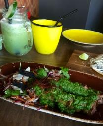 Beef fillet, aji rococo, parsley and chimichurri