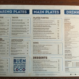 Check the menu