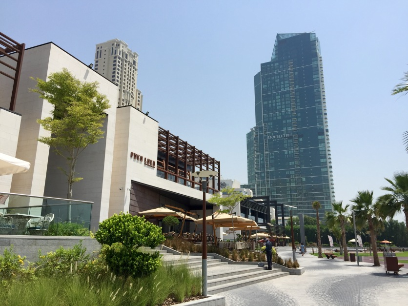 The restaurant located on the beach promenade
