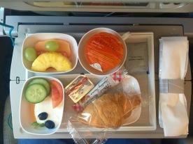 Economy class breakfasts